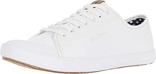 Ben Sherman Eddie Script Baskets, blanc (Off-white Cotton), 41 EU