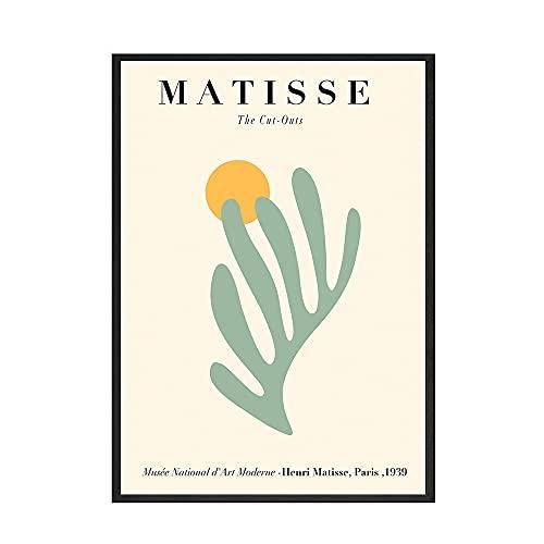 Póster de imagen de arte de pared de estilo Henry Matisse geométrico abstracto, pintura de lienzo sin marco para el hogar A4 60x90cm