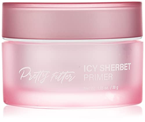 TOUCH IN SOL Pretty Filter Icy Sherbet Primer, 1.05 fl.oz(30g) - Silicone Free Face Makup Primer with Instant Cooling, Tighten and Cover Pores, Silky Finish Primer with Hydrating Effect