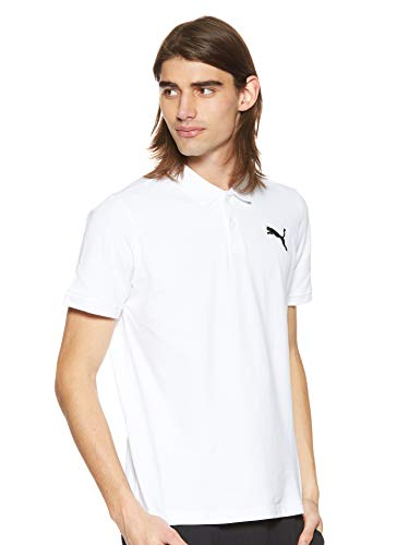 Puma Herren ESS Pique Polo T-shirt, White_Cat, L