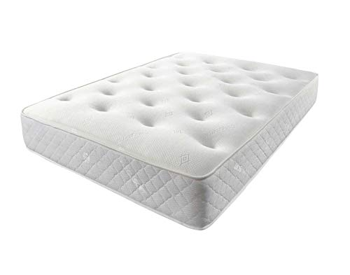 Mattress-Haven Hybrid Cool Blue Memory Foam Sprung Mattress Medium Strength 4FT - Small double Mattress Premium