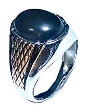 خاتم فضة إسترليني رجالي عيار 925 من فارس للفضة - مقاس 8