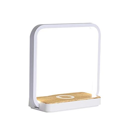 Alextry Schreibtischlampe Induktives Laden, Qi Kabelloses Ladegerät, mit Touch Control-Tischlampe Augenlicht-Leselampe, einstellbare Helligkeit, für Kinder, Erwachsene, Zuhause, Wohnheim und Büro