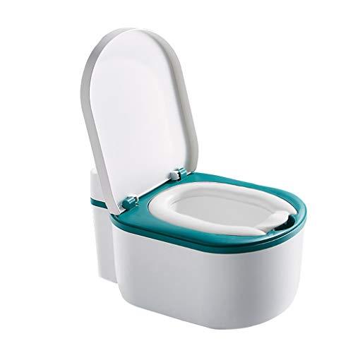QFbp Toilette Adulte Imitation,Grand Pot pour Enfants,Bleu Vert Rose Garçon Fill Tout-Petits Siège D'entraînement