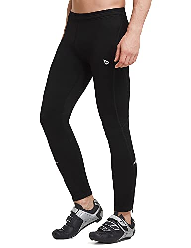 BALEAF Men's Thermal Fleece Running Pants Cycling Tights Long Warm Bike Leggings Cold Weather Winter Gear Outdoor New Black Size L