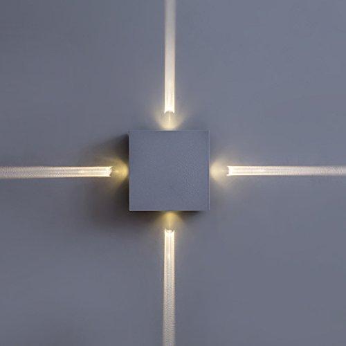 Appliques Murales Lampe Murale Lampe Moderne De Chambre Minimaliste Mur Du Salon, Couloir Créatif, Hôtel, étoile Croix, Lampe De Mur, Conduit Lampe De Chevet,Square
