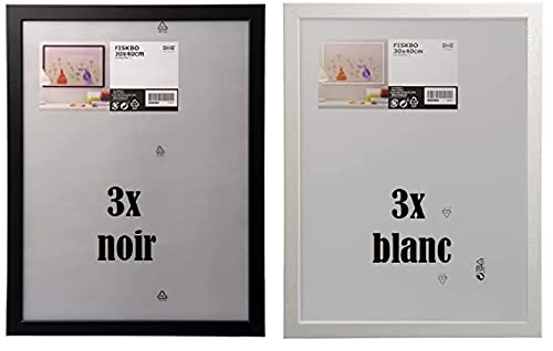 IKEA Fiskbo Bilderrahmen 30x40 cm set 3x - color weiss or schwarz (schwarz)