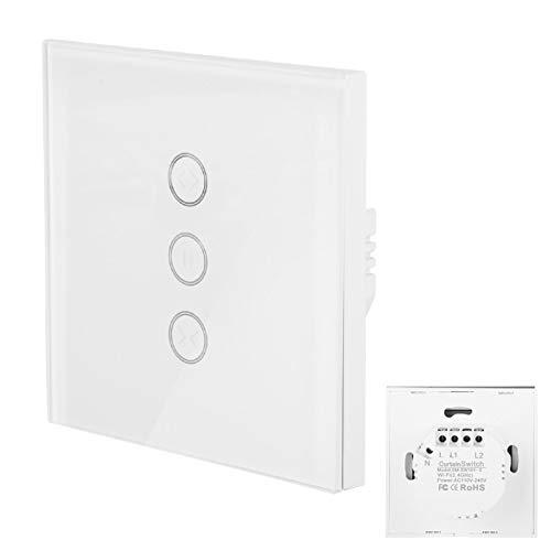 Interruptor de cortina de control remoto Distancia ilimitada Ahorre tiempo Interruptor de WiFi Interruptor de cortina Control de voz, adecuado para oficinas