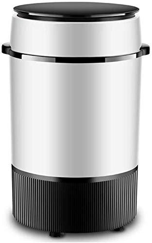 JND Lavadora Mini Lavadora, Compacto Mini Semiautomático secador rotatorio con Desmontable El deshidratar la Cesta del hogar Individual Barril Lavadora Secadora (Color : Black)