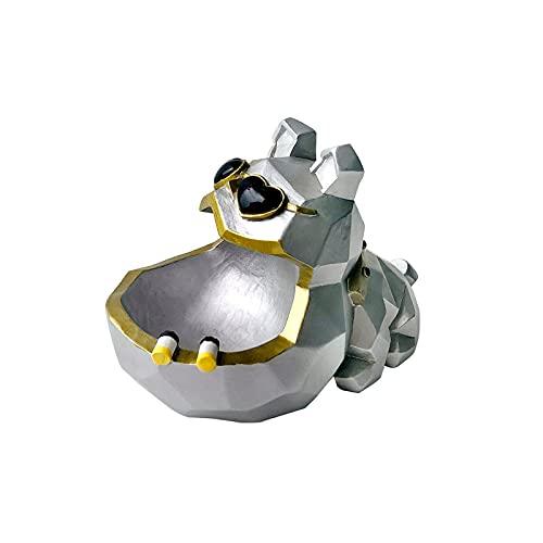 XYJ Cendrier de design de chien de résine coupe-vent Sans couvercle, plateau de cendres portables, cendrier de la mauvaise herbe de jardin, porte-cendres pour fumeurs extérieur éolien cendrier, cendri