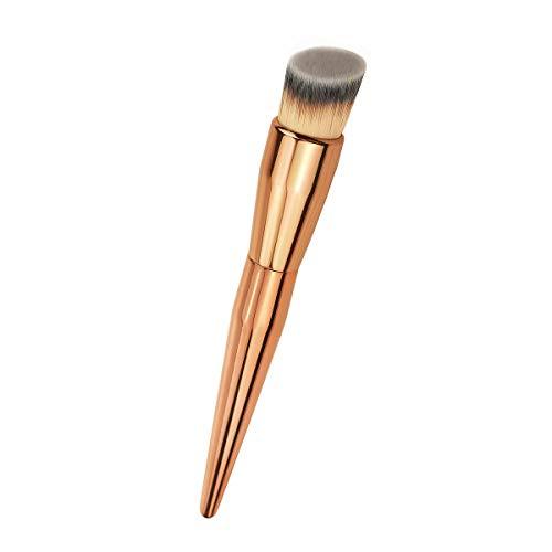 Angled Flat Foundation Kabuki Brush Full Coverage Makeup Brush for Liquid Makeup for Blending Liquid Cream and Flawless Powder Buffing Blending Concealer Premium Makeup brush Golden