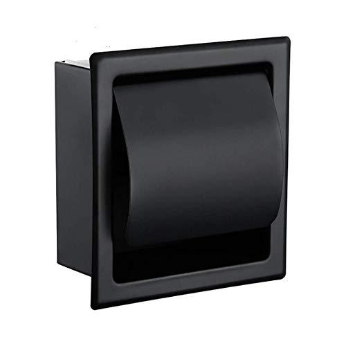JSANSUI Humidificador ultrasónico Negro empotrada WC/Tissue Paper Holder Todo Metal Contrucción 304 de Acero Inoxidable de Doble Pared de baños Caja del Rollo de Papel
