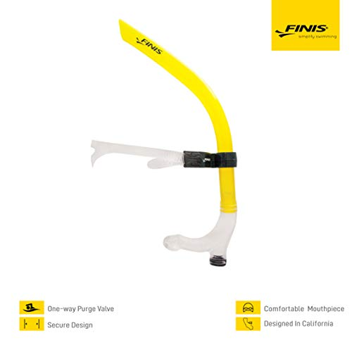 Finis Snorkel Jr Swimmers, Yellow, one Size