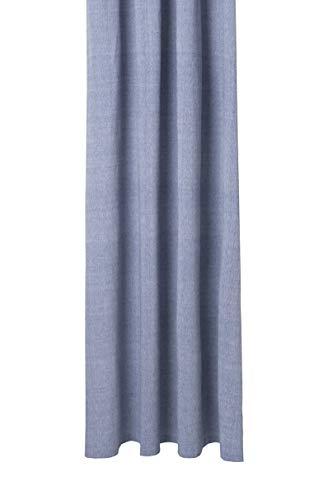 Ferm Living Chambray Duschvorhang, Bio-Baumwolle, Blau, B: 160 x T: 205 cm