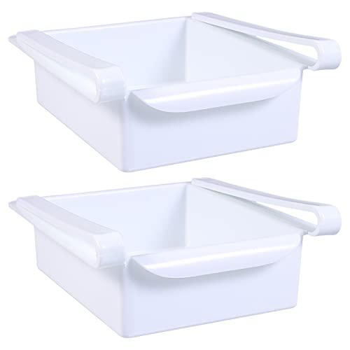 BESTonZON 2 st kylskåp lådor organiserare dra ägg kylskåp arrangör korg kylskåp produktion saver livsmedel lagring behållare för frukt grönsaker kött