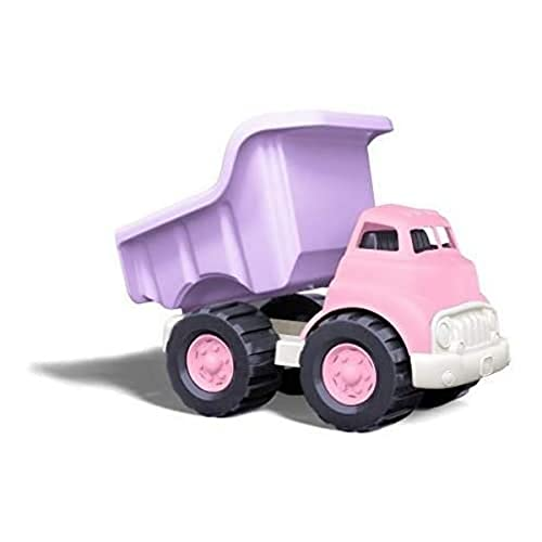 Green Toys Dump Truck, Pink/Purple FFP - Pretend Play, Motor Skills, Kids Toy Vehicle. No BPA, phthalates, PVC. Dishwasher Safe, Recycled Plastic, Made in USA.