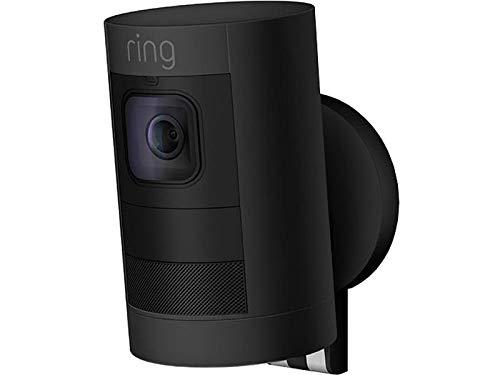 Ring Stick Up Cam Elite HD-Sicherheitskamera mit Gegensprechfunktion, Schwarz, funktioniert mit Alexa