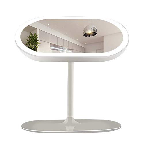 Miroir Maquillage Led, Miroir De Lampe De Table Rotatif À 360 Degrés, Miroir De Maquillage Rechargeable Par USB