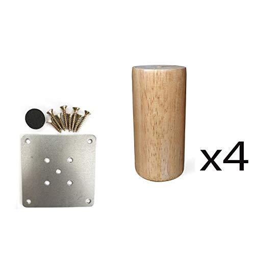 Möbelkomponente 4X Massive Holzzylinder-MöBelfüßE, Tisch/Tv-Schrank/Nachttisch/CouchtischfüßE, HolzmöBelzubehöR