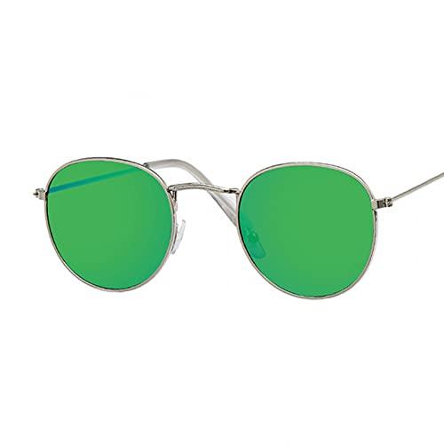 MDKAZ Lindas Gafas de Sol ovaladas Retro para Mujer pequeñas Doradas Negras Vintage Retro Gafas de Sol para Mujer Gafas Plateadas Regalos para la Familia