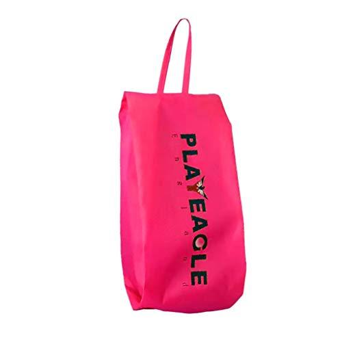 Sharplace Sac de Chaussures Kit Randonnée Poche Étanche Sac e Bottes Escalade Alpinisme - Rose Rouge, 41,5 x 16,5 cm