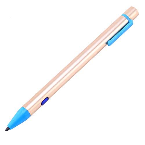 Tamkyo LáPiz óPtico, LáPiz Capacitivo Activo Universal el LáPiz de Pantalla de Rechazo de Palma de Prensa LáPiz de Dibujo de Prensa para/Tableta de, Dorado