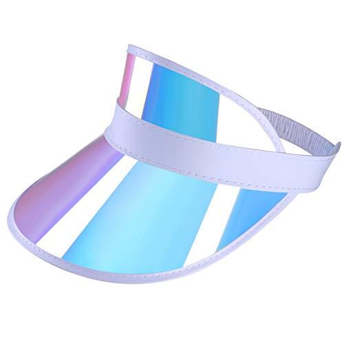 3x Visor Cap Retro Sonnenmütze Schirmmütze Durchsichtig Blende Mütze Cappy Pink