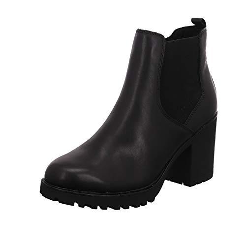 Marco Tozzi Damen 2-2-26820-25 Leder Stiefelette, Botas para Nieve para Mujer, Antic Negro, 37 EU