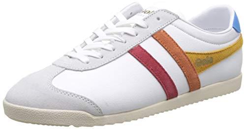 Gola Damen Bullet Trident Sneaker, Weiß (White/Multi Wz), 37 EU