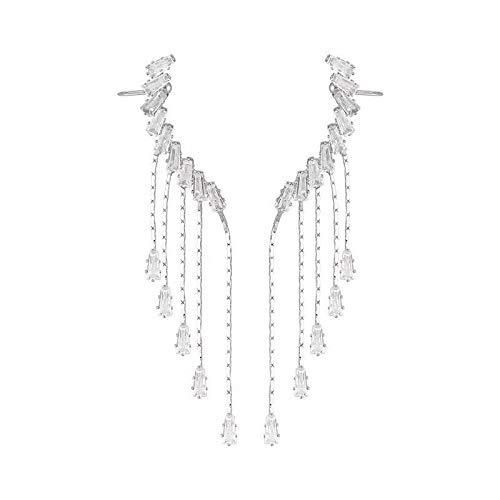 TLBB Pendientes de Borla Larga de Cristal Dulce de la Aguja para Las Mujeres Lady Angel Wing Stud Pendientes de la Boda romántica joyería Nupcial