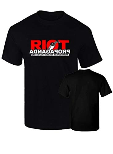 BC Camisetas Riot Propaganda chikos del maiz habeas Corpus Rap Podemos Algodon 190grs (L, Negro)