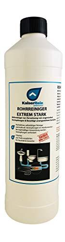 KaiserRein 1L Profi Rohrreiniger Abflussreiniger kraftvoll gegen Verstopfungen I Abfluss Reiniger flüssig für Dusche, Küche, Toilette I Abflussfrei