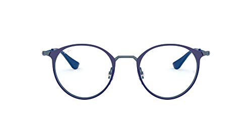 Ray-Ban RX6378 Gafas de lectura, Blue, 47 Unisex Adulto