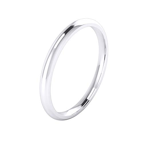 Unisex Sterling Silver 2mm Super Heavy Court Shape Polished Wedding Ring (H)