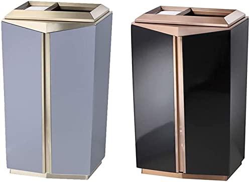 La basura puede elegante clásico abierto grado de negocio, contenedor de residuos de cigarrillos corredor de hotel de acero inoxidable, hotel de lujo con cenicero de cigarrillos