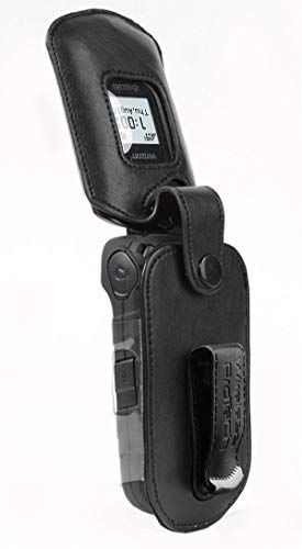 Kyocera DuraXE and DuraXV LTE (E4710 & E4610) Case, Wireless ProTECH Genuine Leather Case with Swivel Belt Clip, for Kyocera DuraXE and DuraXV LTE Flip Phone