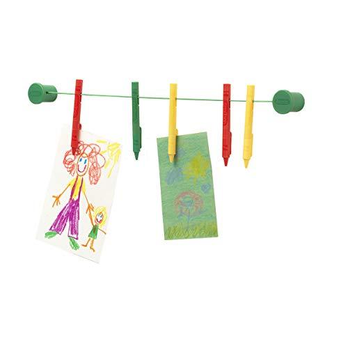 """Room Copenhagen, Crayola Crayon Clip Wall Display - Includes 5 Picture Clips and 36"""" String - Happy Harlekin"""