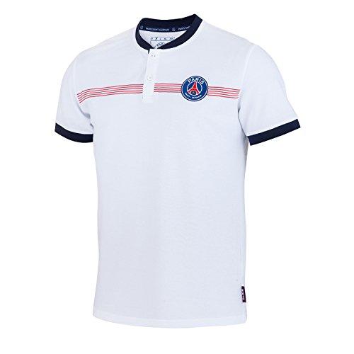 Paris Saint Germain Poloshirt, PSG, offizielle Kollektion, für Herren S weiß
