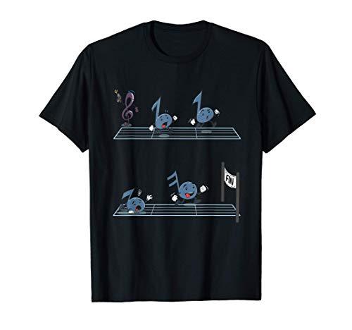 Notas musicales divertidas Clef Race Compositor Finish Camiseta