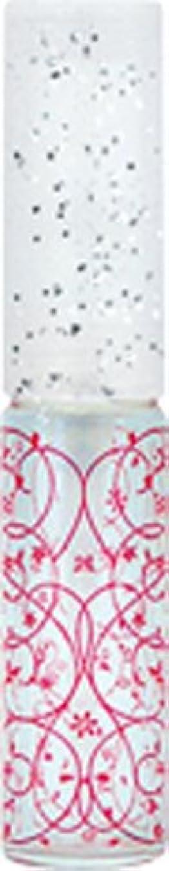 船員火炎理解する50441 【ヤマダアトマイザー】 グラスアトマイザー プラスチックポンプ 柄 アラベスク レッド