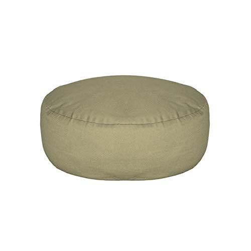 GIAOGIAO Alrededor del Cojín De Doble Antideslizante Transpirable Suave Cómoda Lavable Meditación Cubierta De Algodón Throw Cushion (Color : Green)