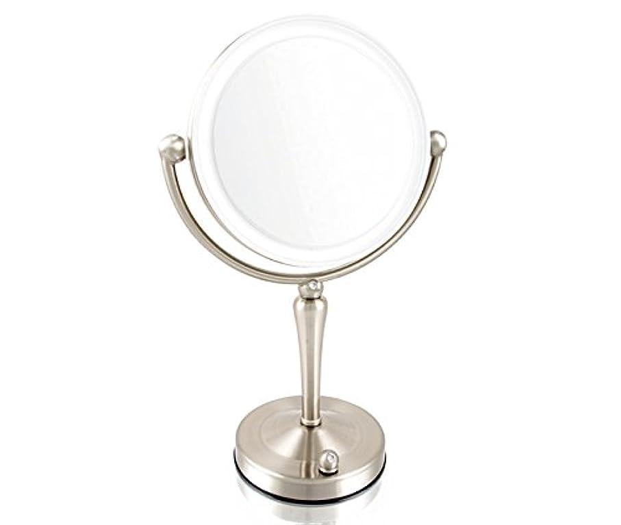 攻撃的運河黙安もの拡大鏡とは見え方が全く違います!拡大鏡 5倍拡大+等倍鏡+LEDライト付き 真実の鏡DX 両面Z型 ブロンズ調 人気No.1両面型を真鍮仕上げとジルコニアで高級感UP。シミ?しわ?たるみ?毛穴が驚くほど良く見える拡大鏡を、くるっと返せば等倍鏡でとっても便利!
