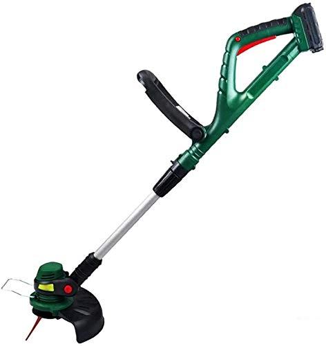 Elektrischer 20-V-Rasenmäher, wiederaufladbarer Rasenmäher für kleine Familien geräuscharm, handgehaltener Rasenmäher mit geringem Verbrauch green,20V