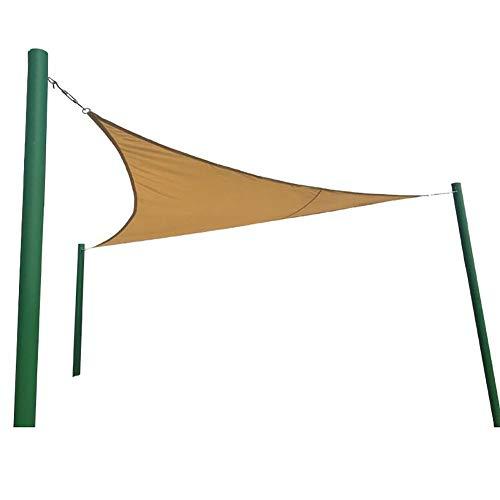 Panno Ombra Gazebo Shade Sail, Tenda da Sole in Polietilene ad Alta Densità Traspirante per Giardino Esterno Cortile in Cortile, Triangolo, 3,6 × 3,6 × 3,6M