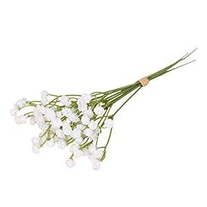 Silk Flower Arrangements 15Pack Artificial Flowers Lifelike Gypsophila Decorative Baby's Breath DIY Floral Bouquets Wedding Home Party