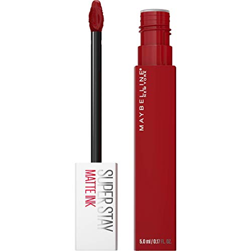 Maybelline New York SuperStay Matte Ink Liquid Lipstick Long-lasting Matte Finish Liquid Lip Makeup Highly Pigmented Color, Exhilarator, 0.17 Oz., 340 EXHILARATOR