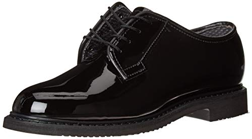 Bates Women's Lites High Gloss Oxford Shoes Round Toe Black 12 M