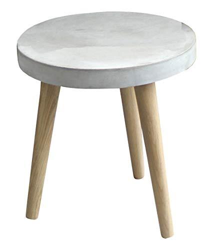 SIT-meubel bijzettafel poten eiken, licht beton, grijs 50 x 50 x 50 cm grijs