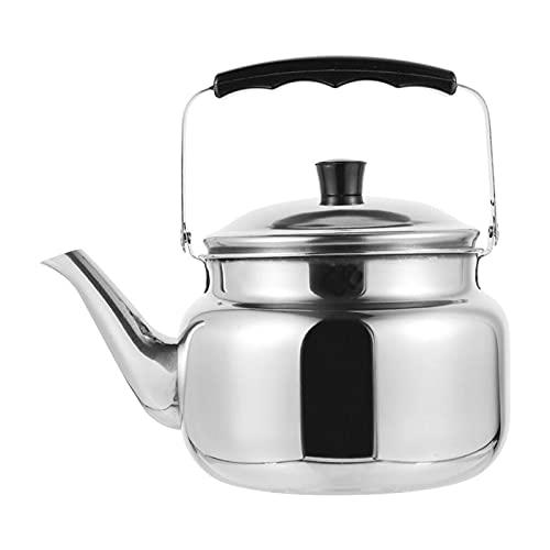 yangmeng Mini Tetera de 1pc, hervidor de Acero Inoxidable, Tetera al Aire Libre con Mango Anti-escaldado, Tetera y hervidor, Tetera, Conjunto de té, Titular de Utensilios de Cocina (Capacity : 1 L)