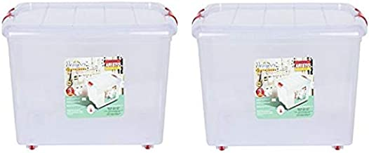 ARISTO Multipurpose Plastic Storage Box 25 LTR Container Pack of 2 -(Transparent)